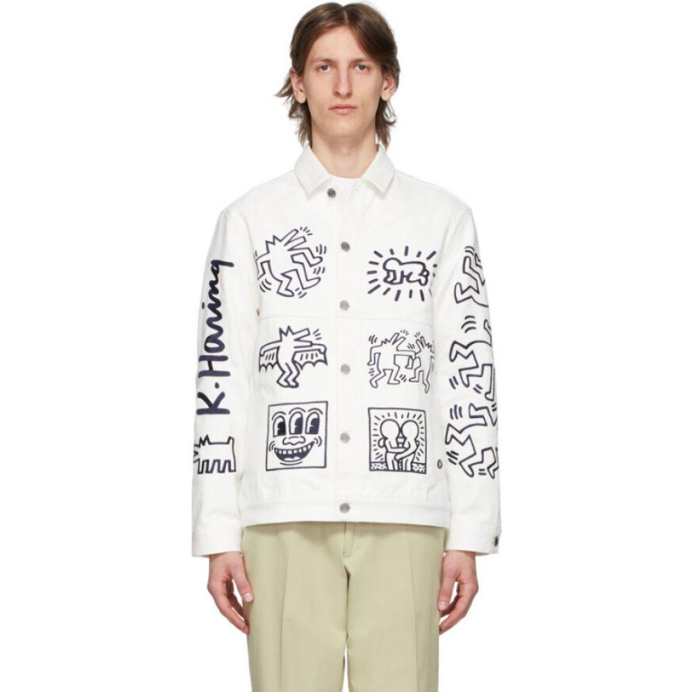 エチュード Etudes メンズ ジャケット Gジャン アウター【white keith haring edition denim guest jacket】White