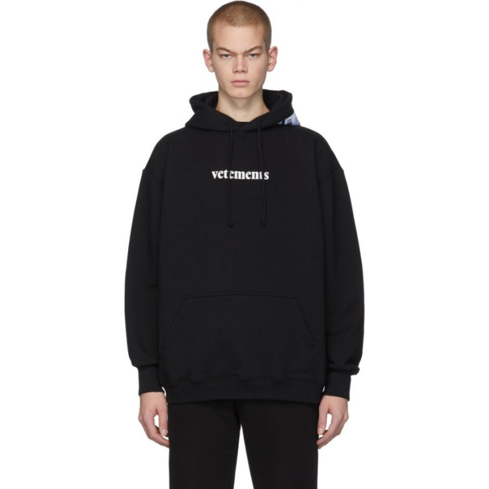 ヴェトモン VETEMENTS メンズ パーカー トップス【black postage hoodie】Black