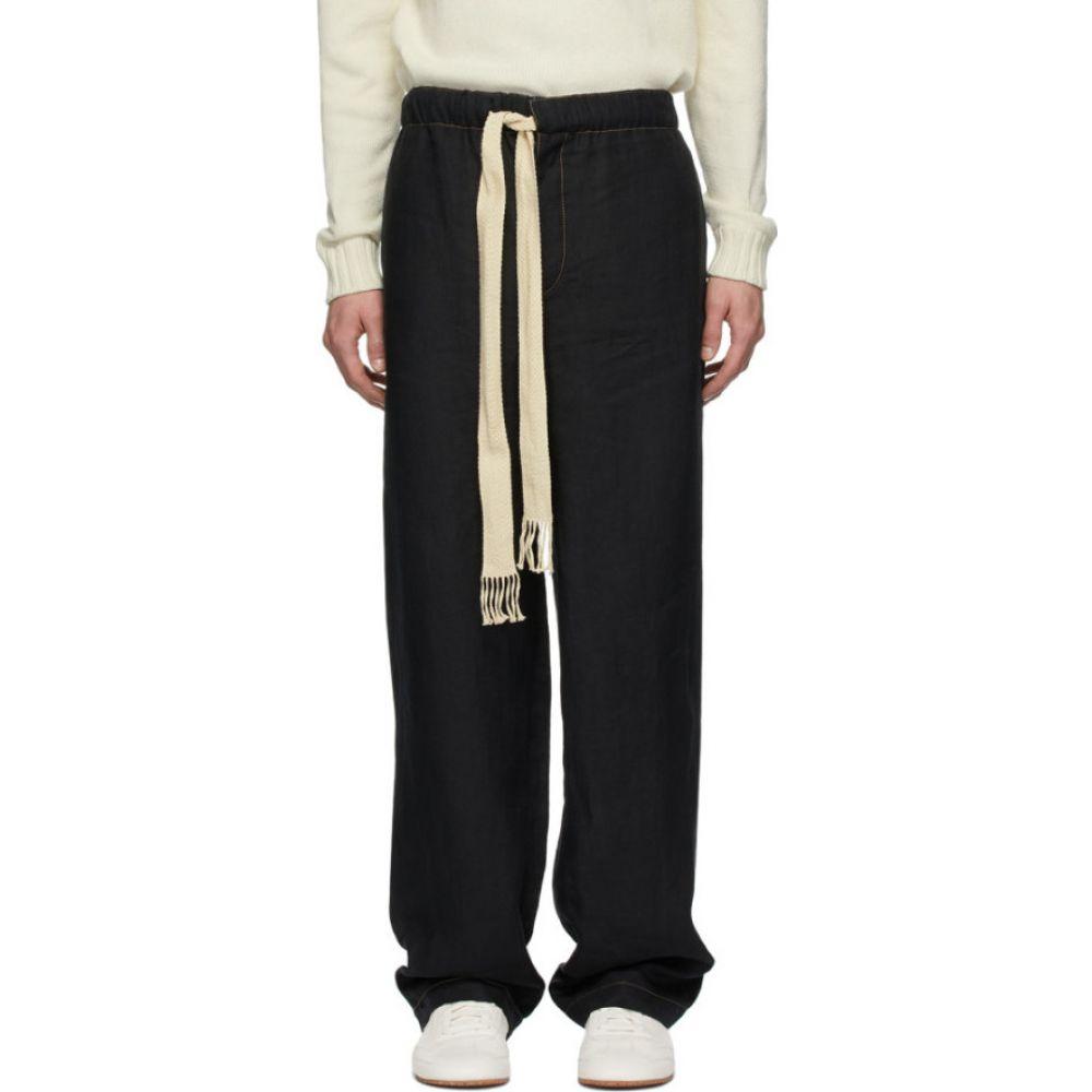 ロエベ Loewe メンズ ボトムス・パンツ 【black drawstring trousers】Black/Navy blue