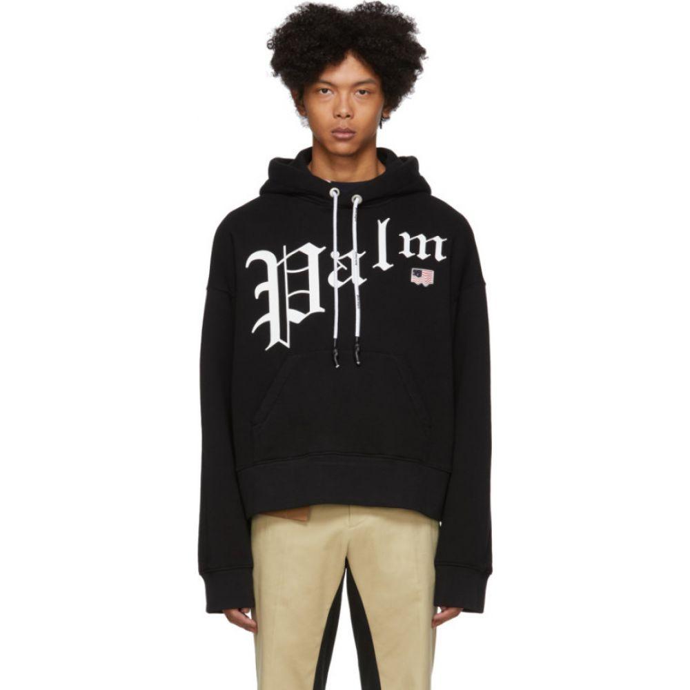 パーム エンジェルス Palm Angels メンズ パーカー トップス【black new gothic hoodie】Black/White