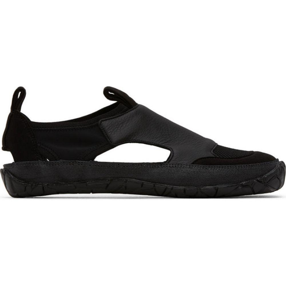 イッセイ ミヤケ Issey Miyake Men メンズ スリッポン・フラット シューズ・靴【black vulcanized gurkha slip-on sneakers】Black