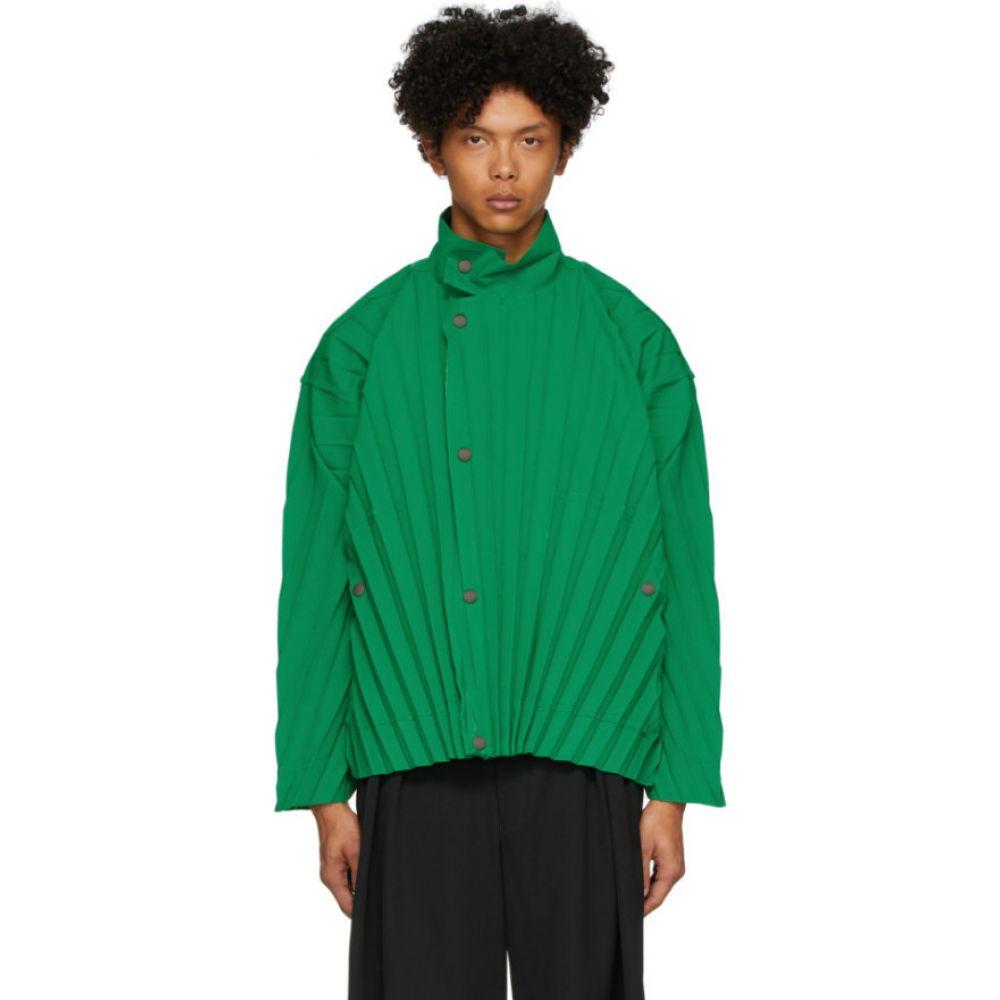 イッセイ ミヤケ Homme Plisse Issey Miyake メンズ ジャケット アウター【green edge light jacket】Green