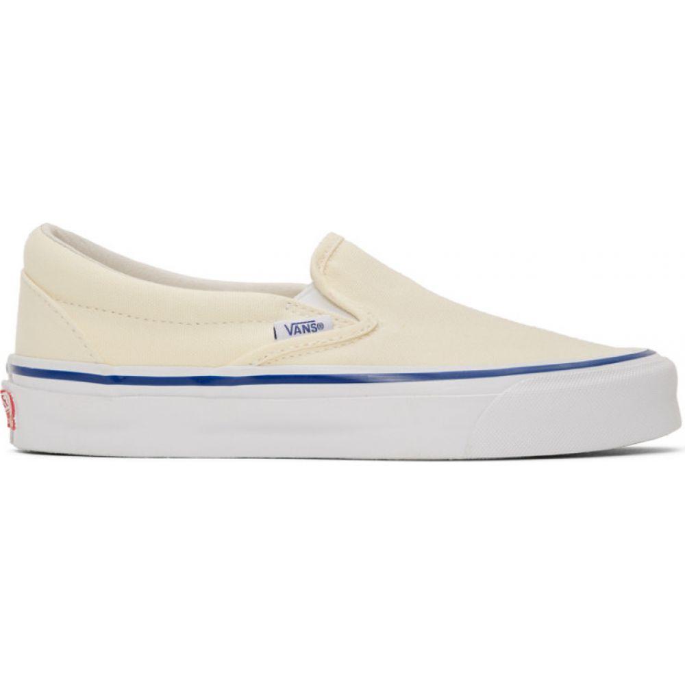 ヴァンズ Vans メンズ スリッポン・フラット シューズ・靴【off-white og classic slip-on lx sneakers】White