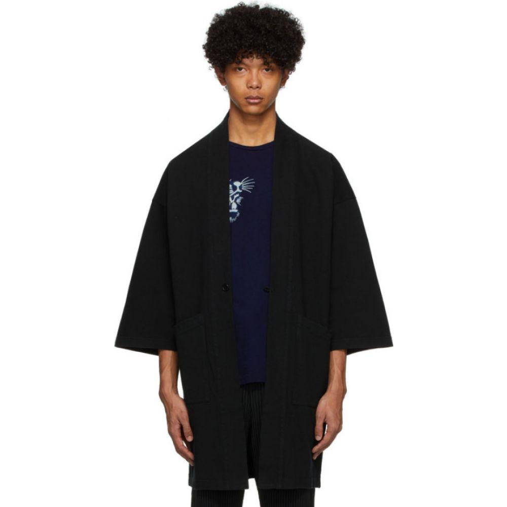 ブルーブルージャパン Blue Blue Japan メンズ ジャケット アウター【black firm jersey hanten jacket】Black