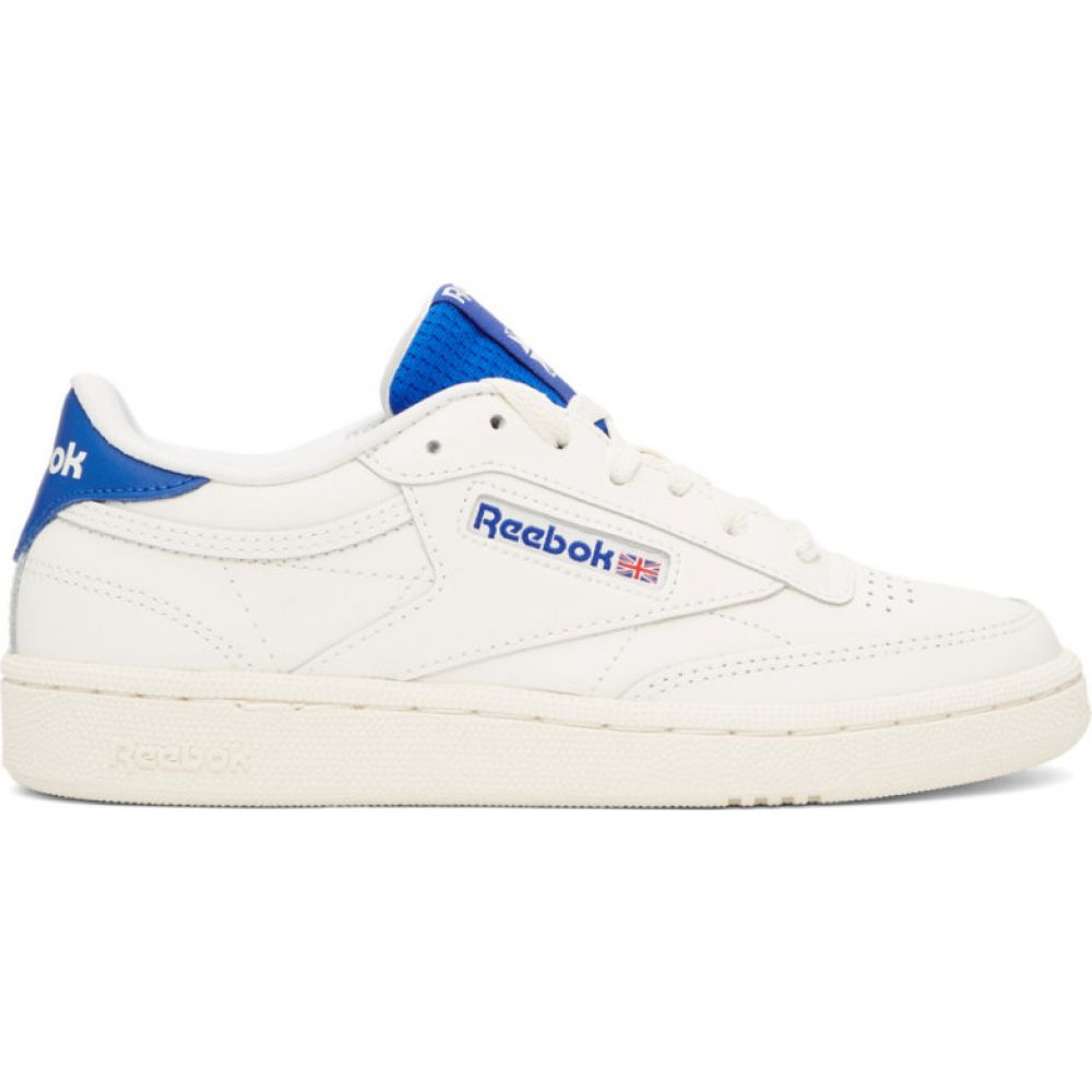 リーボック Reebok Classics レディース スニーカー シューズ・靴【off-white & blue club c 85 sneakers】Chalk/Humble blue/Posh pink