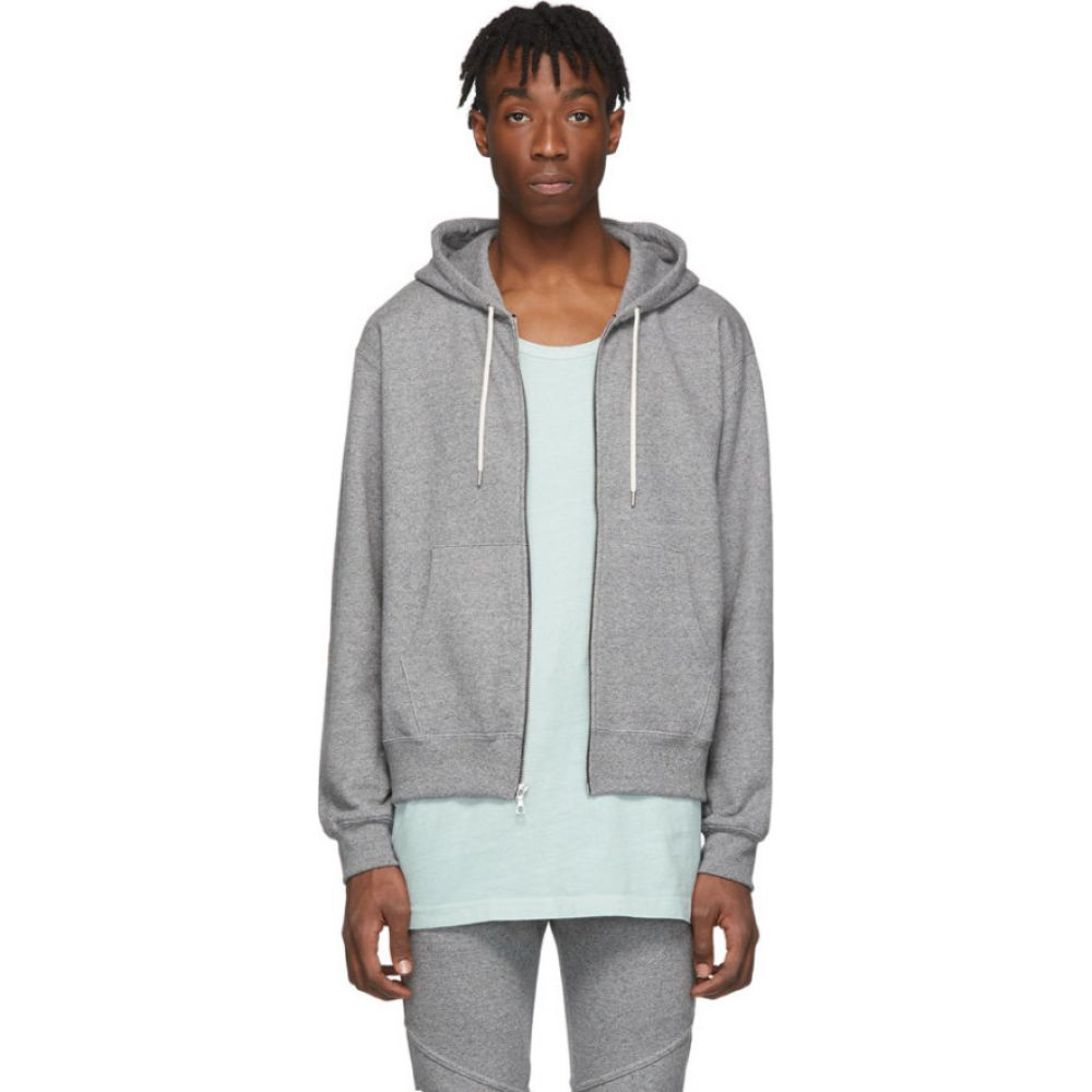 ジョン エリオット John Elliott メンズ パーカー トップス【grey athens full zip hoodie】Dark grey