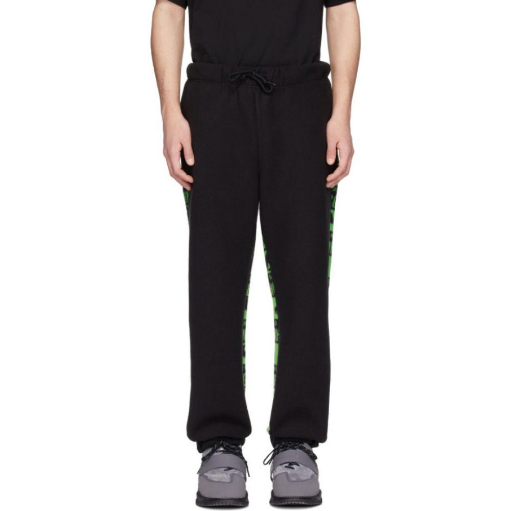 パークスアンドミニ Perks and Mini メンズ スウェット・ジャージ ボトムス・パンツ【black & green neighborhood edition lounge pants】Black