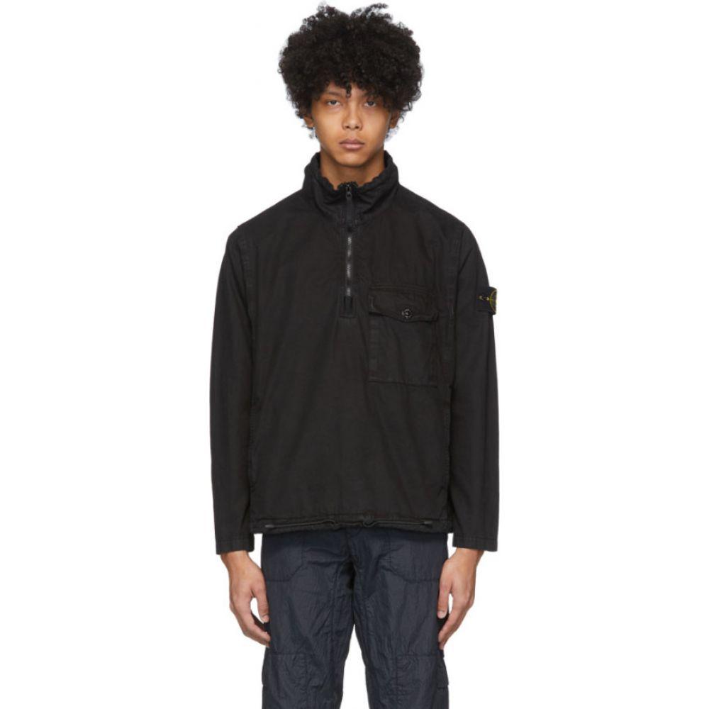 ストーンアイランド Stone Island メンズ ジャケット アウター【black cotton pullover jacket】Black