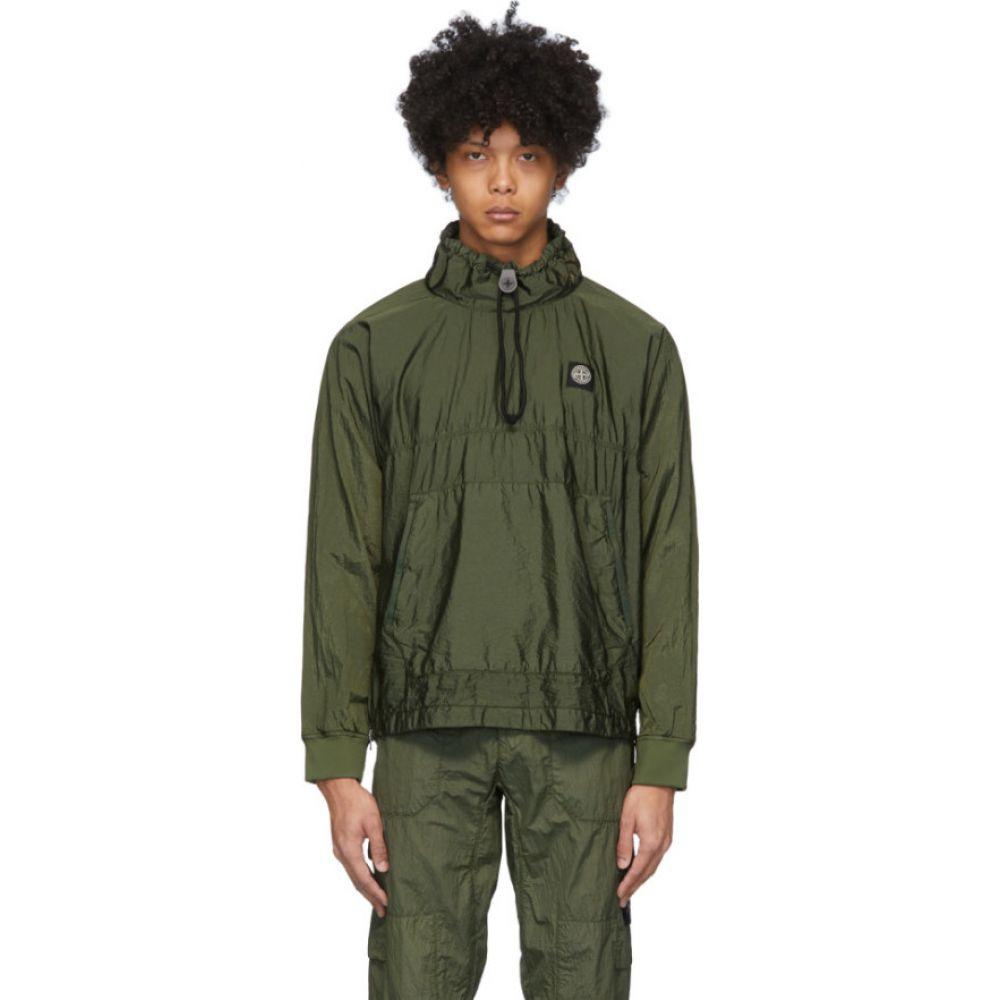 ストーンアイランド Stone Island メンズ ジャケット アウター【khaki nylon metal ripstop jacket】Olive