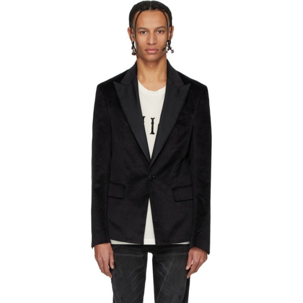 アミリ Amiri メンズ スーツ・ジャケット アウター【black velvet blazer】Black