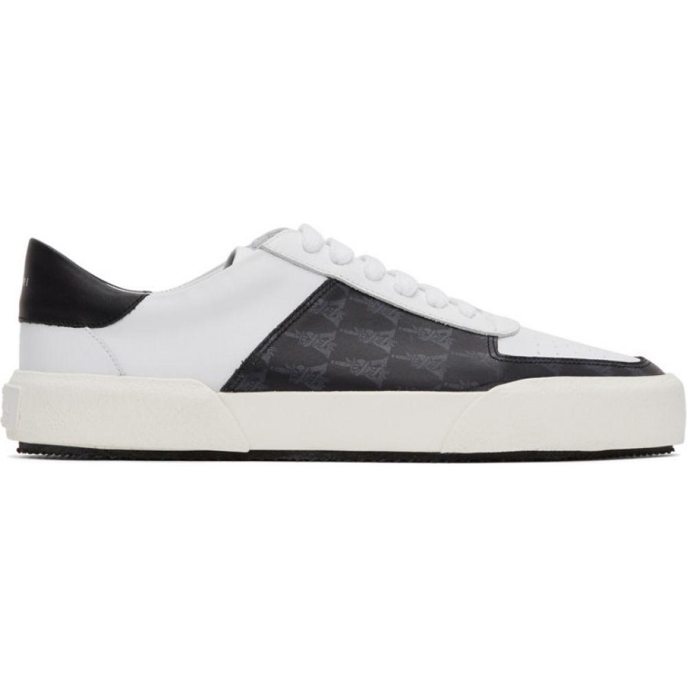 アミリ Amiri メンズ スニーカー シューズ・靴【black & white dagger monogram sneakers】Black/White
