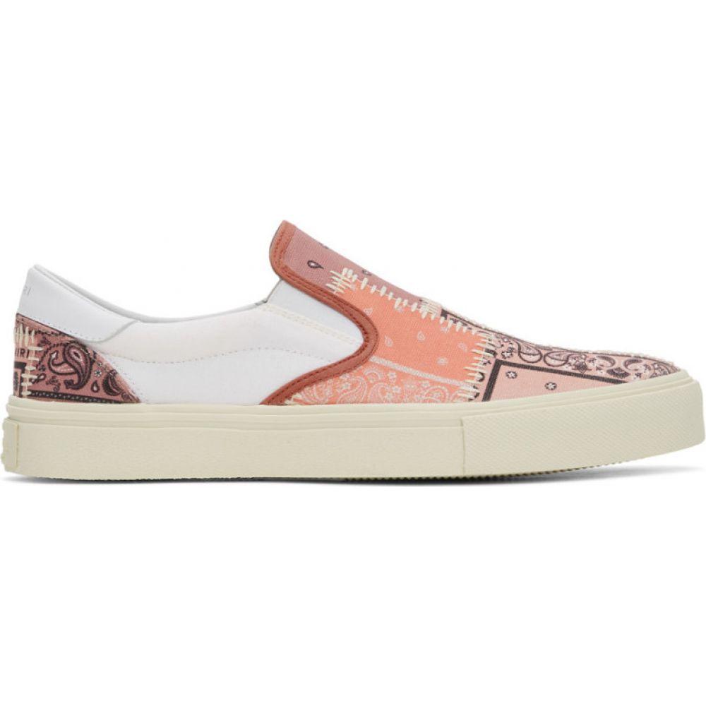 アミリ Amiri メンズ スリッポン・フラット シューズ・靴【pink bandana reconstruction slip-on sneakers】Coral