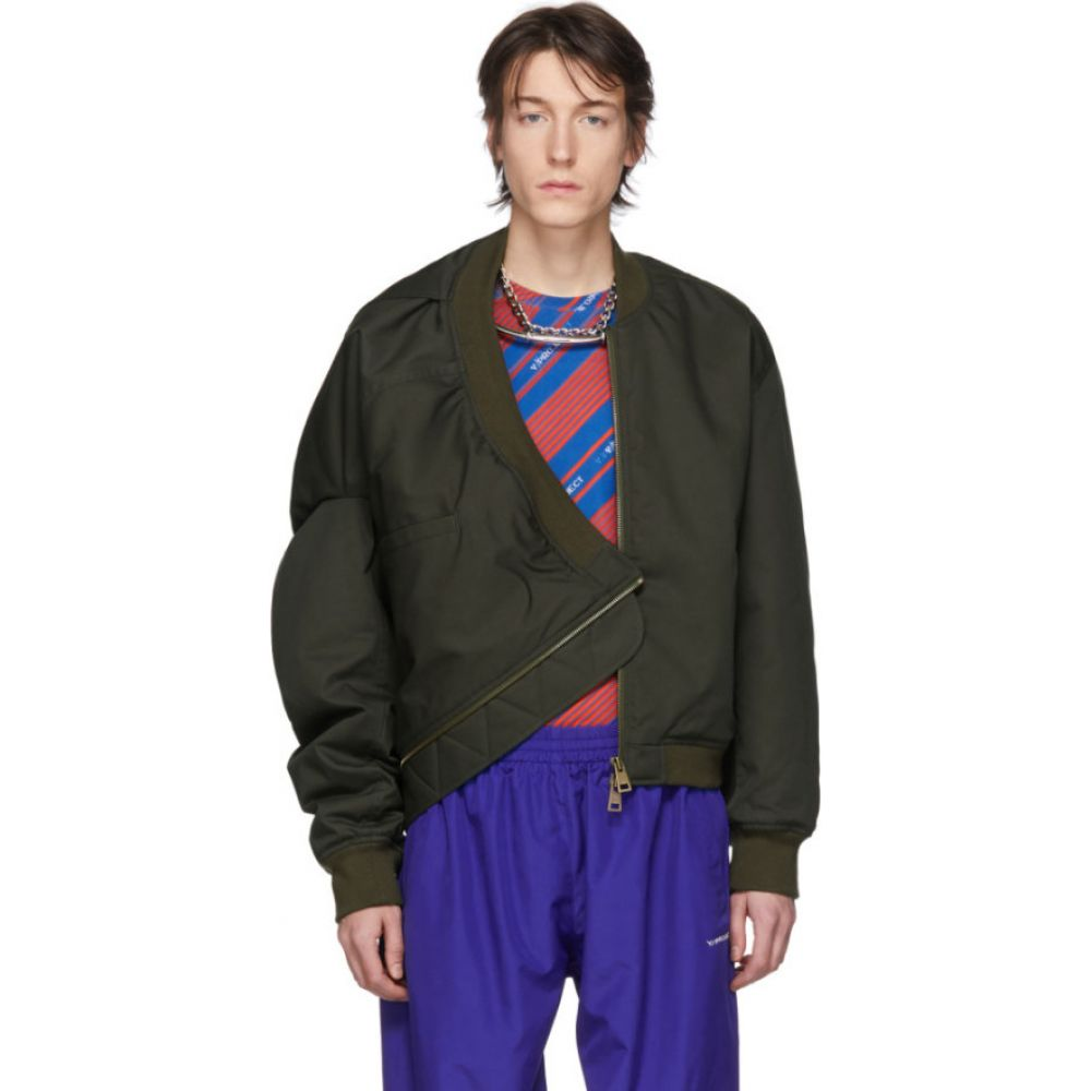 ワイプロジェクト Y/Project メンズ ブルゾン ミリタリージャケット アウター【green upside down bomber jacket】Dark green