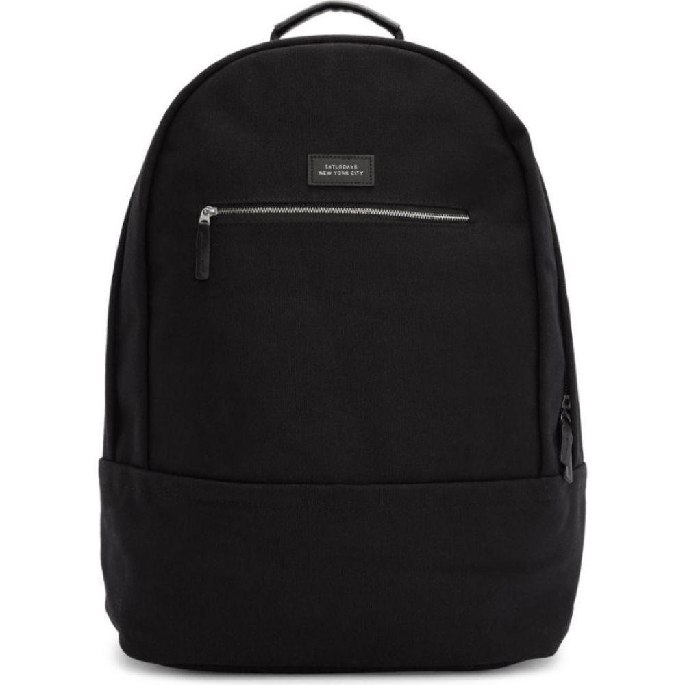 サタデーニューヨーク Saturdays NYC メンズ バックパック・リュック バッグ【black nylon hannes backpack】Black