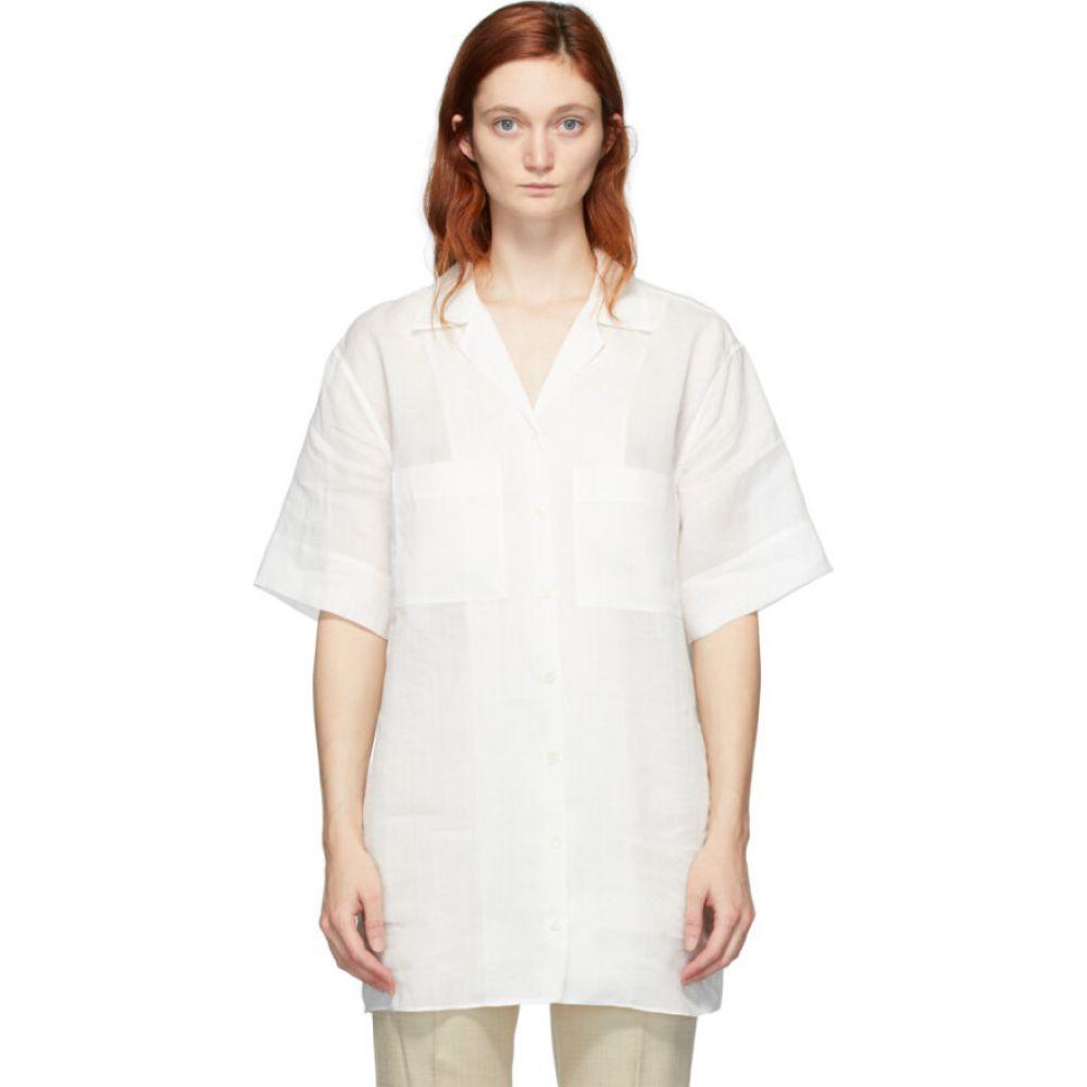 ジョゼフ Joseph レディース ブラウス・シャツ トップス【white ramie brani shirt】Ivory