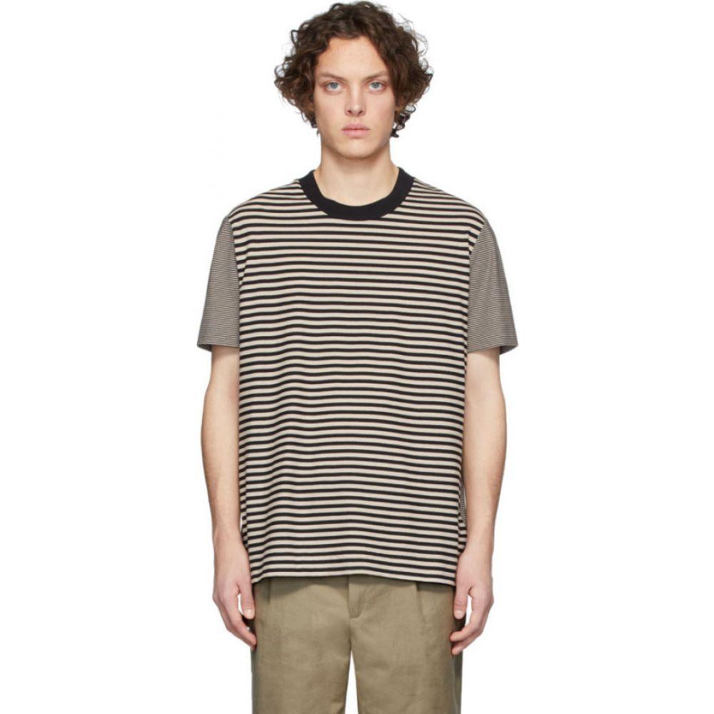 ジョゼフ Joseph メンズ Tシャツ トップス【beige combo stripe t-shirt】Camel