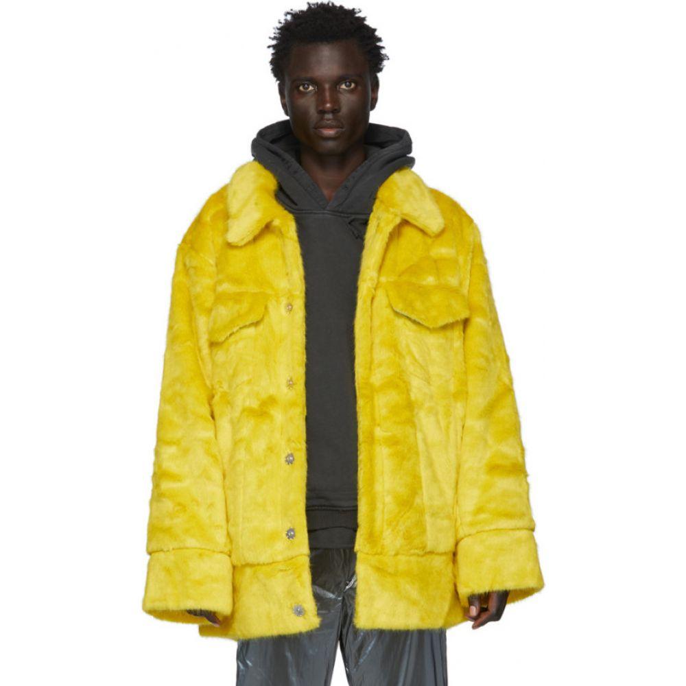 ランドロード Landlord メンズ ジャケット アウター【yellow faux-fur jacket】Yellow matcha