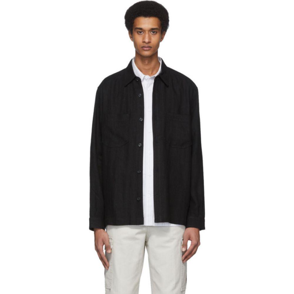 ホープ HOPE メンズ ジャケット オーバーシャツ アウター【black linen overshirt jacket】Black