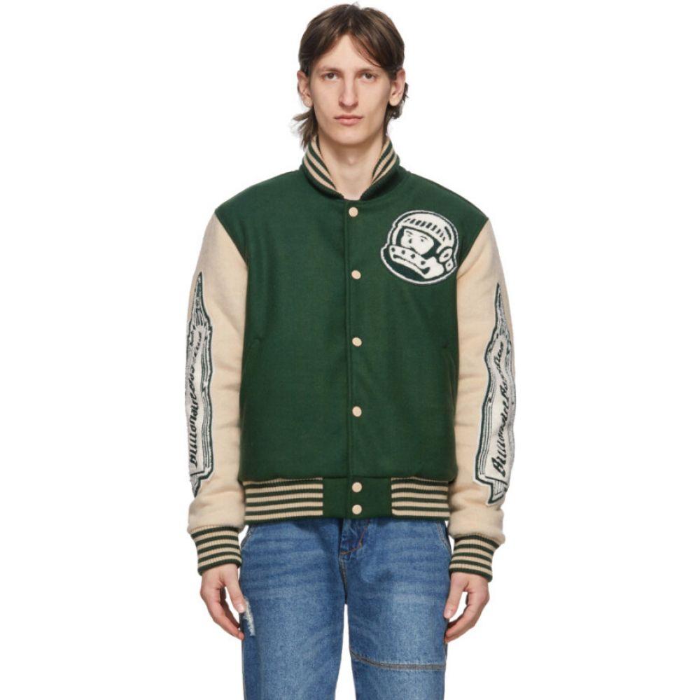 ビリオネアボーイズクラブ Billionaire Boys Club メンズ ブルゾン アウター【green astro varsity jacket】Dark green