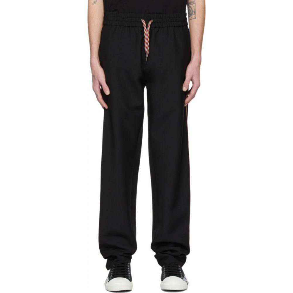 バーバリー Burberry メンズ スウェット・ジャージ ボトムス・パンツ【black wool lounge pants】Black