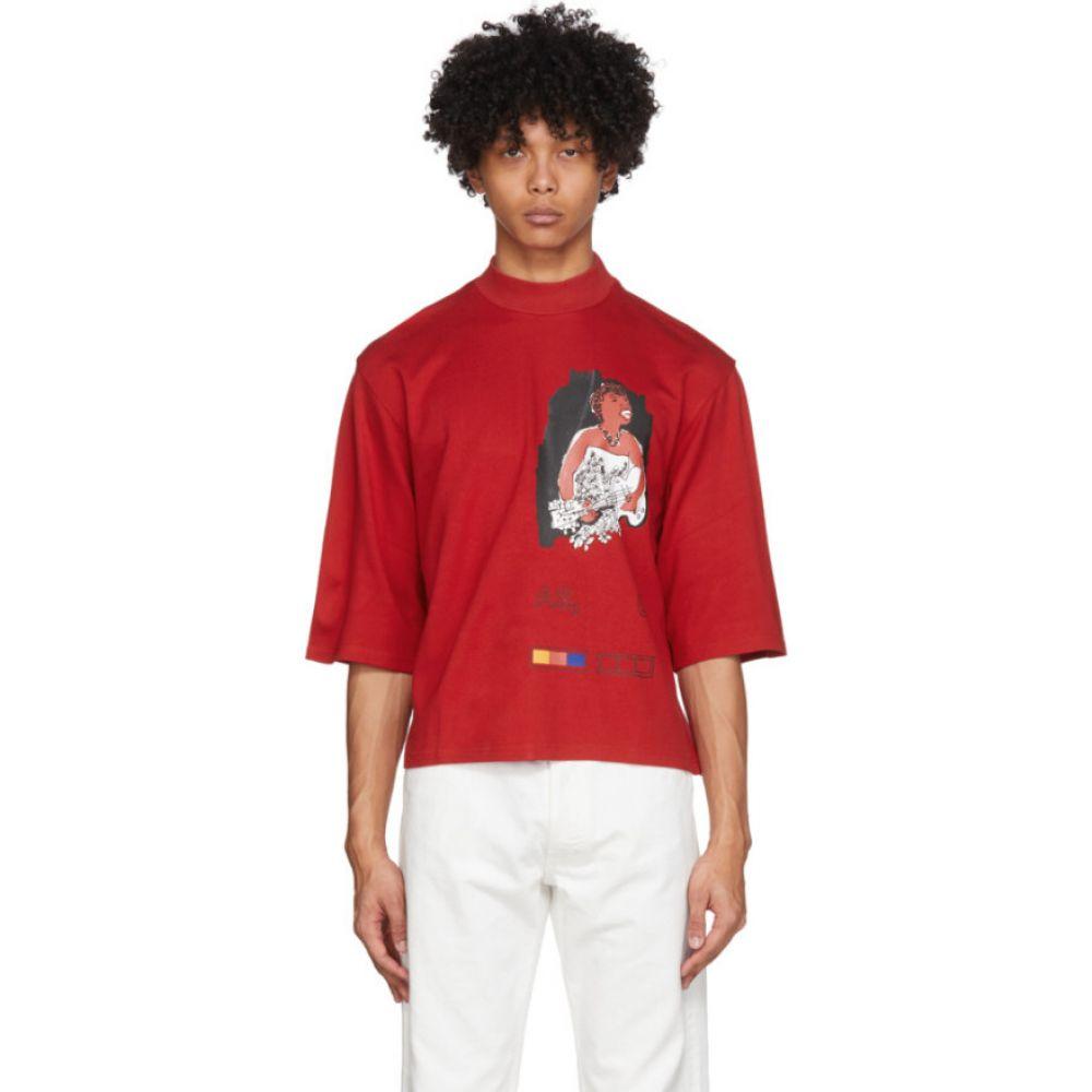 パイヤー モス Pyer Moss メンズ Tシャツ トップス【red mock neck ponte t-shirt】Red