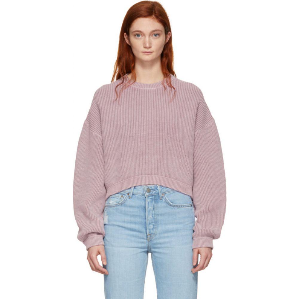 アレキサンダー ワン alexanderwang.t レディース ニット・セーター トップス【pink cropped utility sweater】Dusk