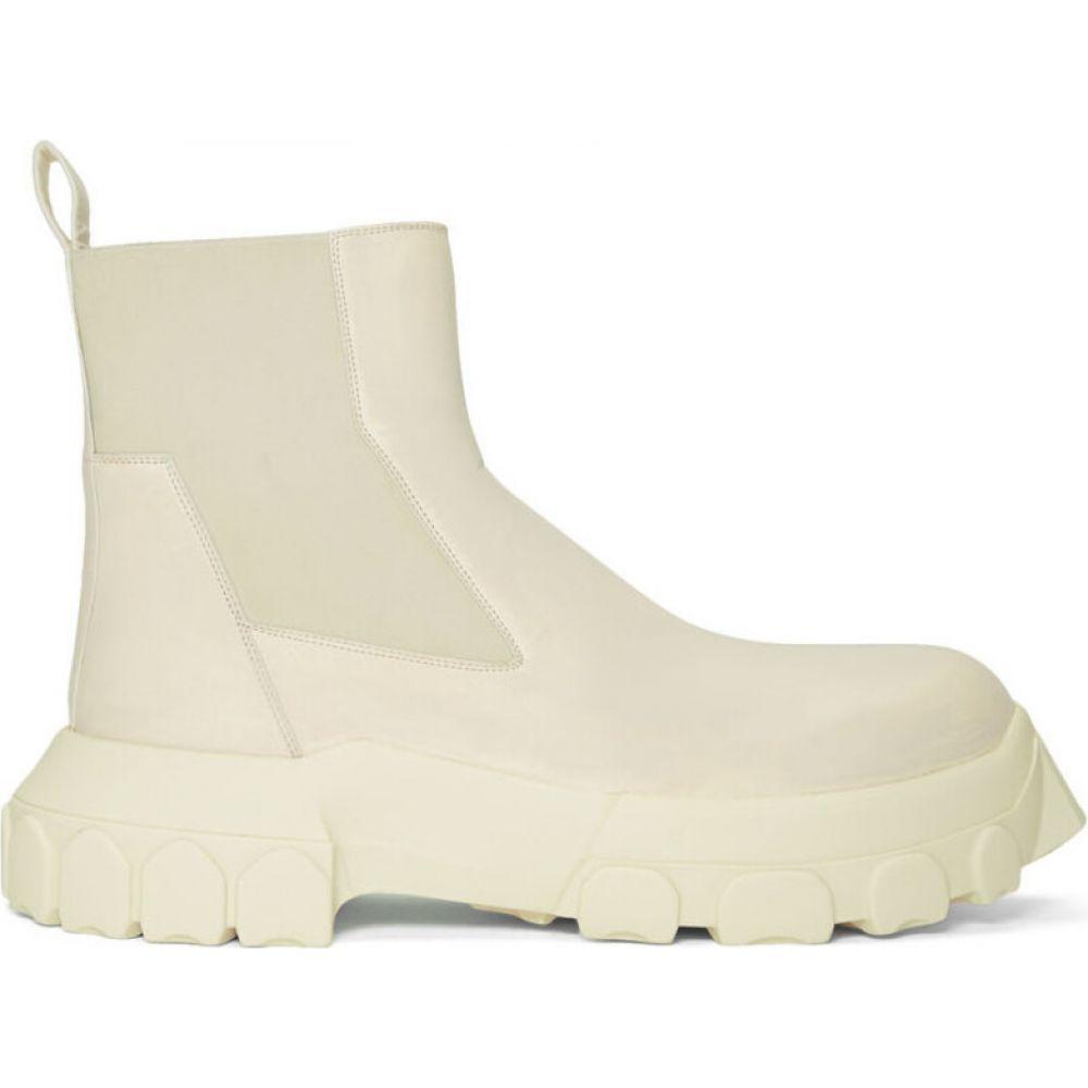 リック オウエンス Rick Owens メンズ ブーツ チェルシーブーツ シューズ・靴【white bozo tractor beetle chelsea boots】Milk/Milk