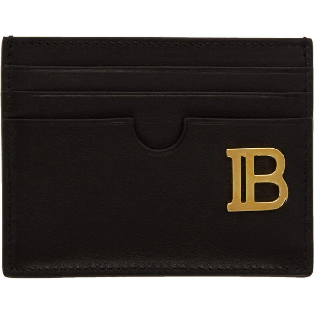 バルマン Balmain レディース カードケース・名刺入れ カードホルダー【black logo card holder】Black