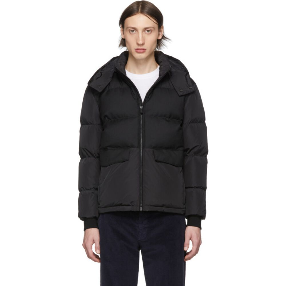 ジーゼニア Z Zegna メンズ ダウン・中綿ジャケット アウター【black down short puffer jacket】Black