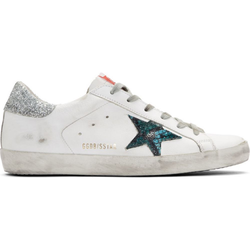 ゴールデン グース Golden Goose レディース スニーカー シューズ・靴【white snake superstar sneakers】White leather