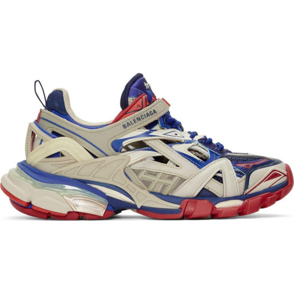バレンシアガ Balenciaga メンズ スニーカー シューズ・靴【beige & blue track 2 sneakers】Beige/Blue/Red