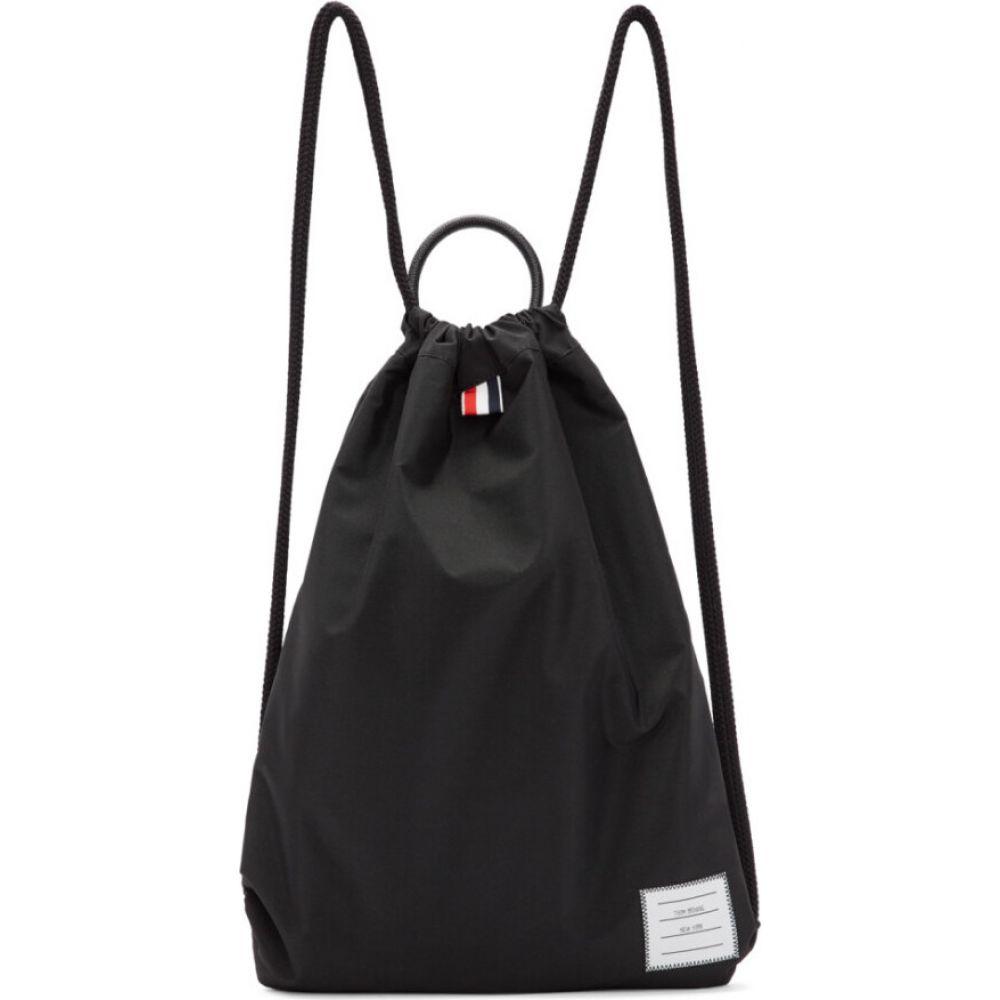 トム ブラウン Thom Browne メンズ バックパック・リュック バッグ【black drawcord handle backpack】Black