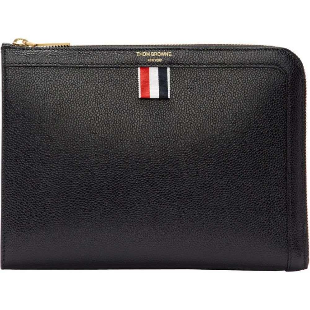 トム ブラウン Thom Browne メンズ ビジネスバッグ・ブリーフケース バッグ【black mini gusset portfolio】Black