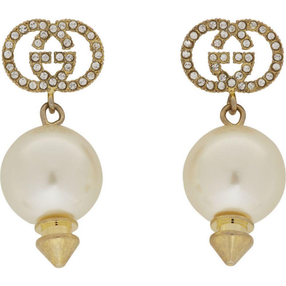グッチ Gucci レディース イヤリング・ピアス ジュエリー・アクセサリー【gold gg pearl earrings】Pearl