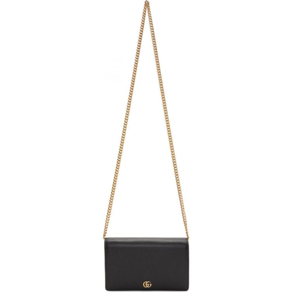 グッチ Gucci レディース ショルダーバッグ バッグ【black small marmont chain bag】Black