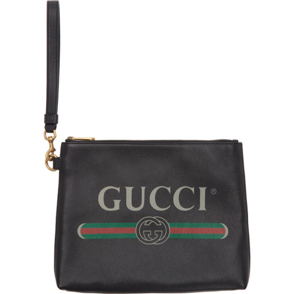 グッチ Gucci メンズ ポーチ 【black logo portfolio pouch】Black