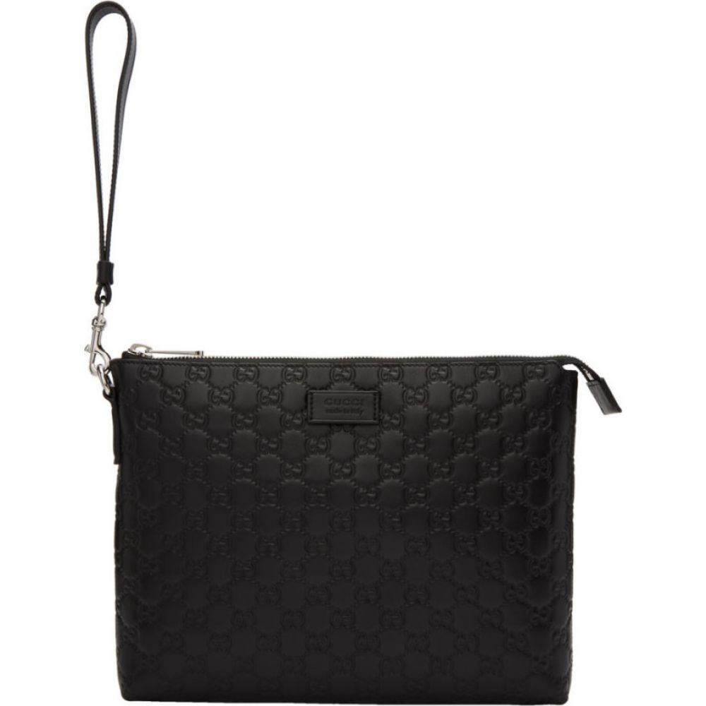 グッチ Gucci メンズ ビジネスバッグ・ブリーフケース バッグ【black 'signature' portfolio】Black