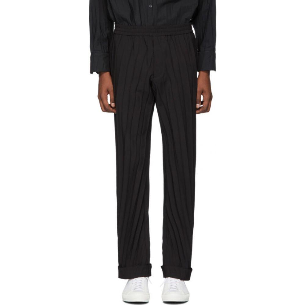 ヴァレンティノ Valentino メンズ ボトムス・パンツ 【black plisse elastic waist trousers】Black