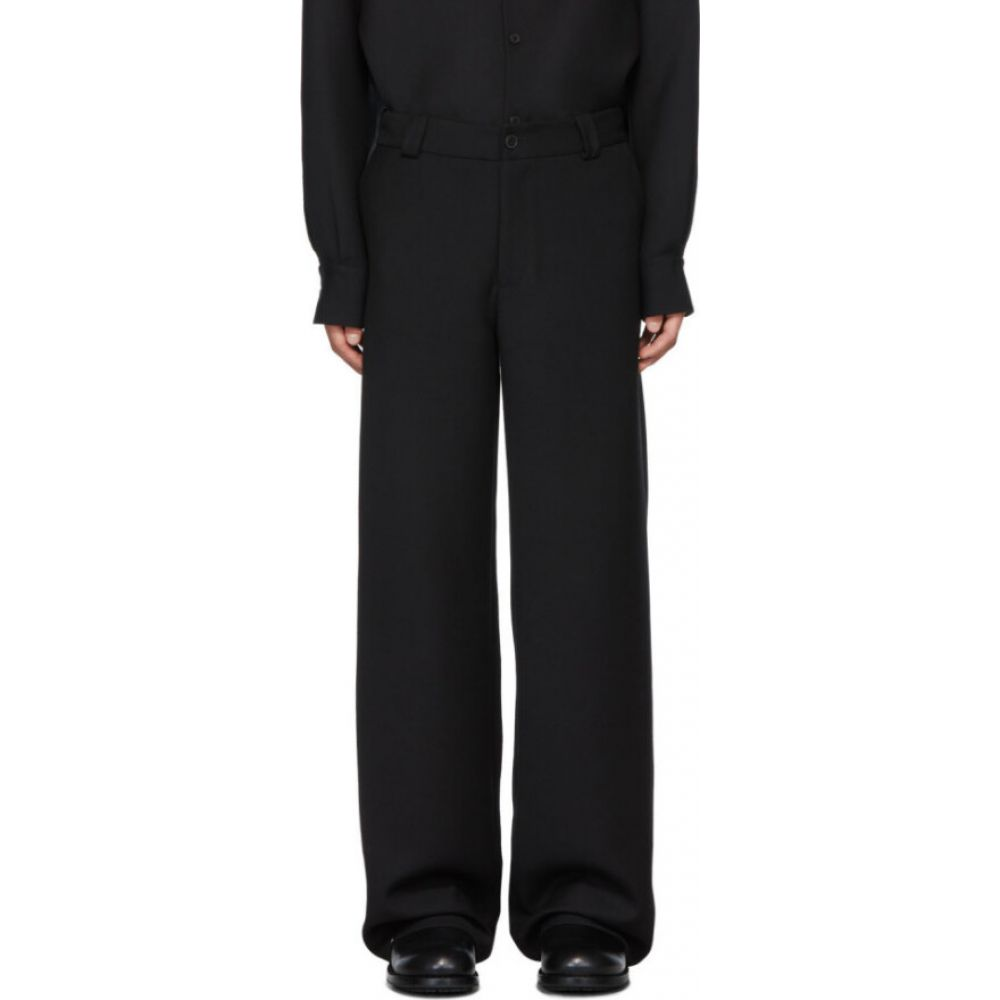 ヴァレンティノ Valentino メンズ ボトムス・パンツ 【black satin adjustable trousers】Black