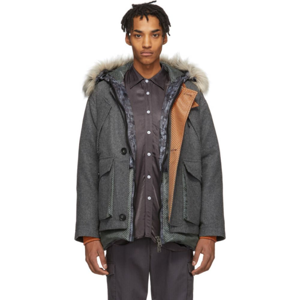 ウールリッチ Woolrich メンズ ダウン・中綿ジャケット アウター【grey north hollywood edition down camouflage arctic parka】Grey camouflage