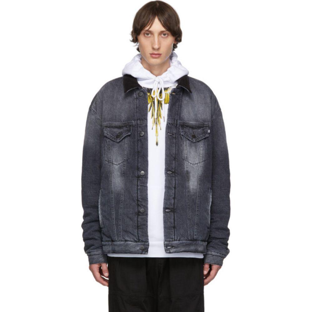 マルセロバーロン Marcelo Burlon County of Milan メンズ ジャケット Gジャン アウター【grey denim vintage wash jacket】Black/White