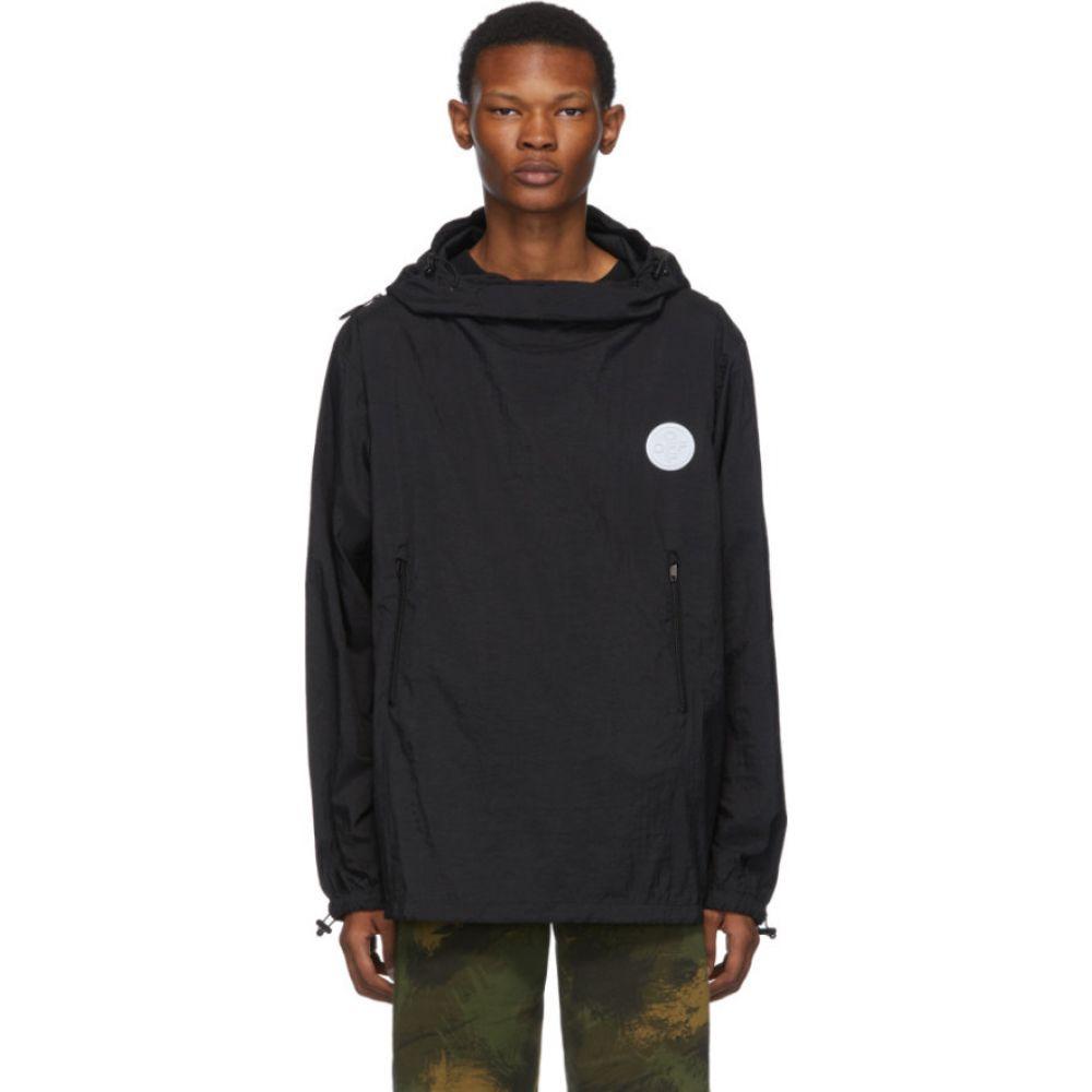 オフホワイト Off-White メンズ レインコート アウター【black packable rain jacket】Black/White