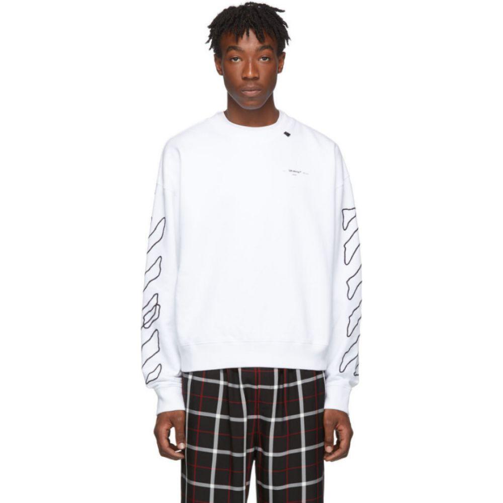 オフホワイト Off-White メンズ スウェット・トレーナー トップス【white & black abstract arrows sweatshirt】White/Black
