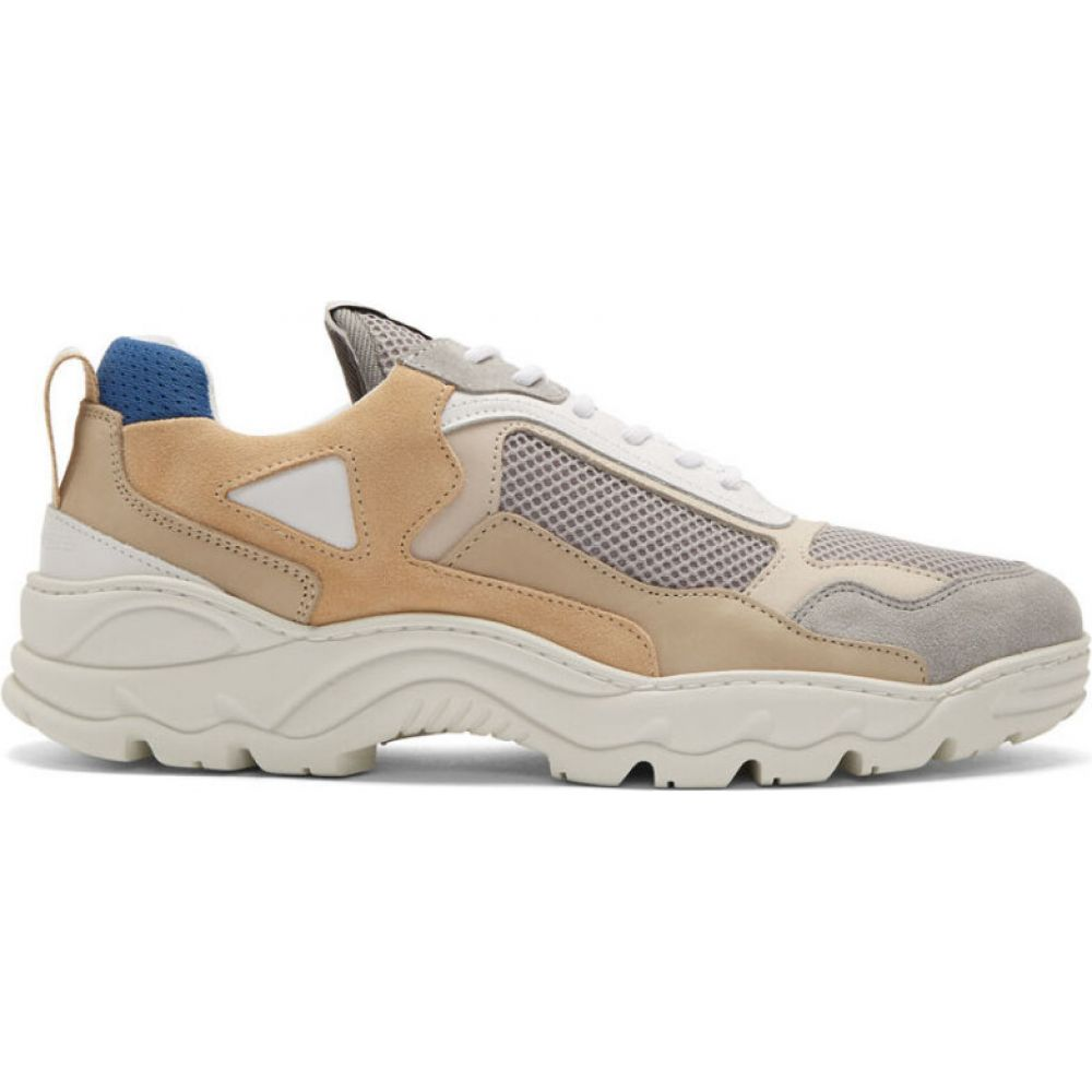 フィリング ピース Filling Pieces メンズ スニーカー シューズ・靴【beige & grey low curve trimix sneakers】White/Blue
