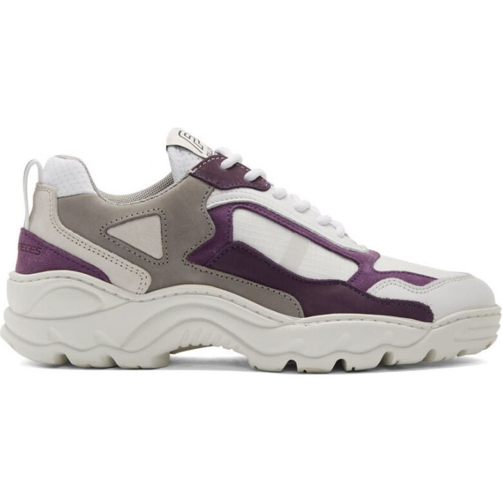 フィリング ピース Filling Pieces メンズ スニーカー シューズ・靴【white & purple low curve iceman sneakers】Trimix purple