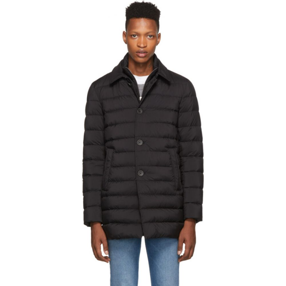 ヘルノ Herno メンズ ダウン・中綿ジャケット アウター【black down 'l'impermeable' coat】Black