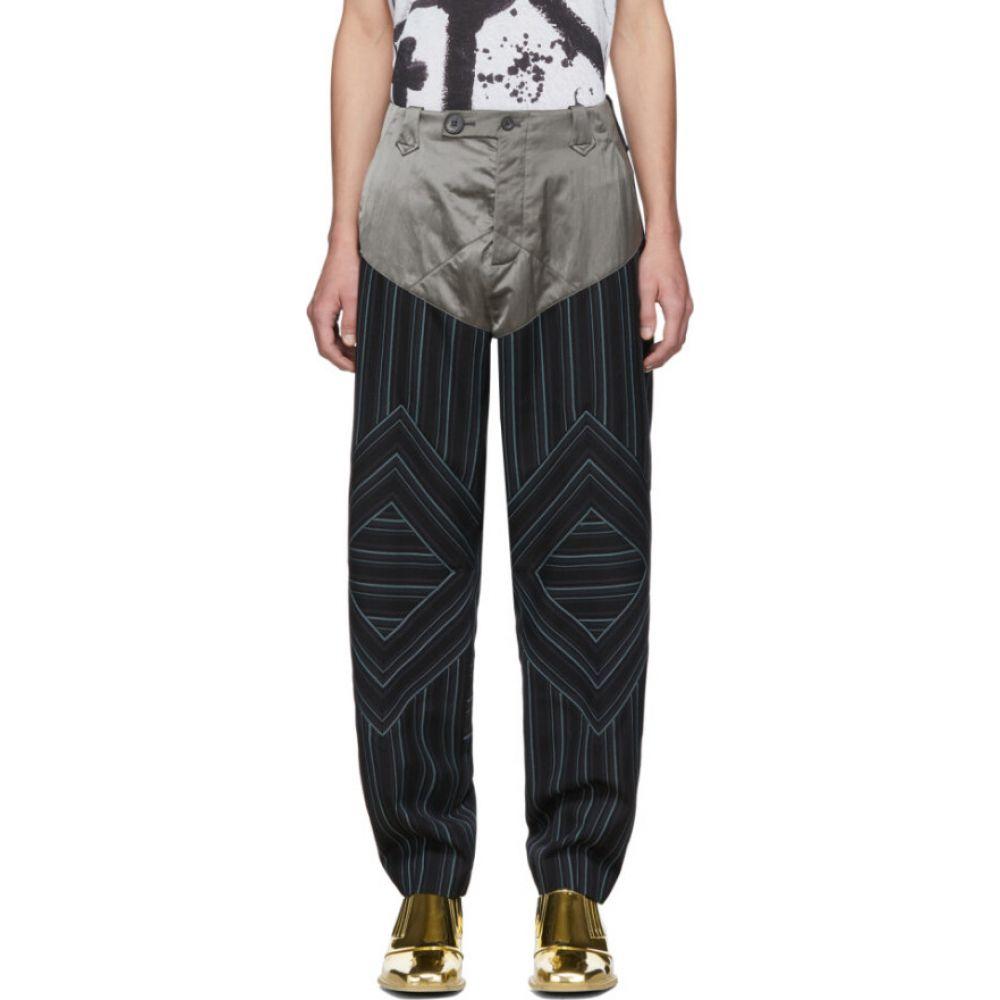キコ コスタディノフ Kiko Kostadinov メンズ ボトムス・パンツ 【navy striped rhombus trousers】Midnight stripe