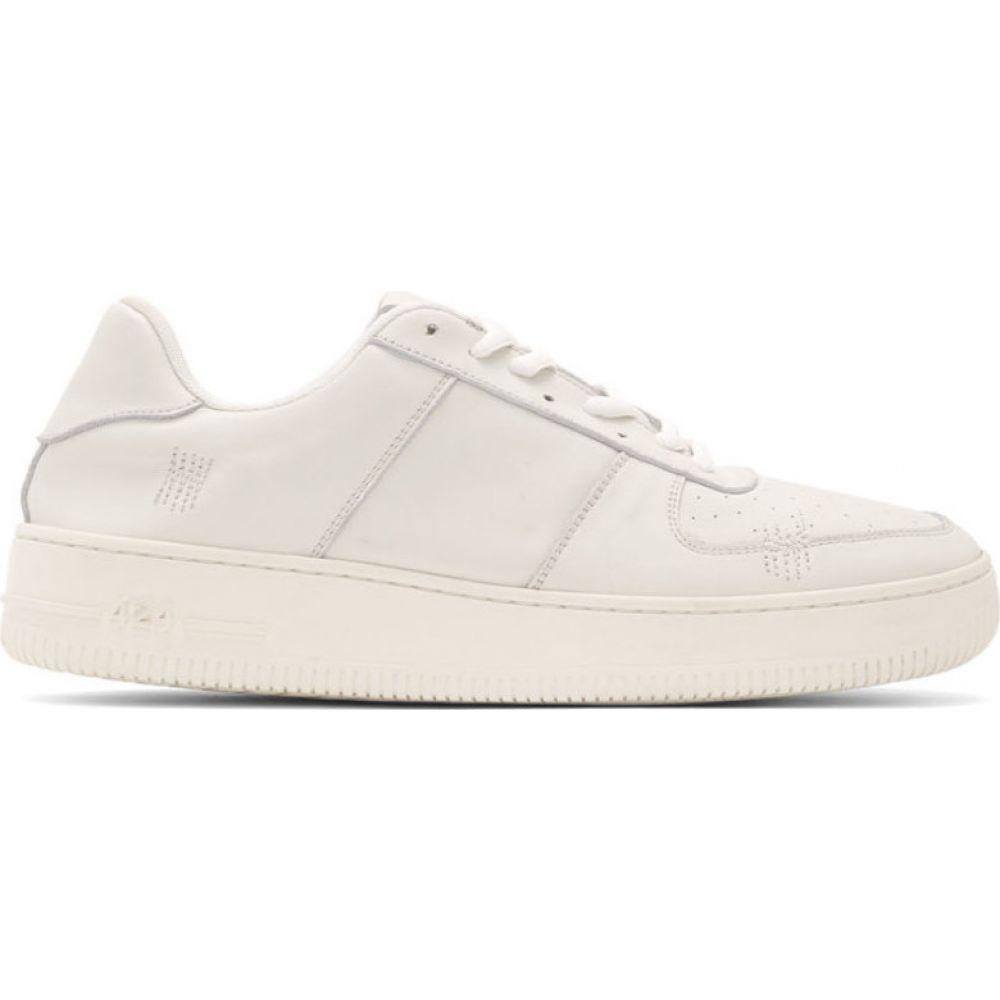 フォートゥーフォー 424 メンズ スニーカー シューズ・靴【off-white distressed sneakers】White