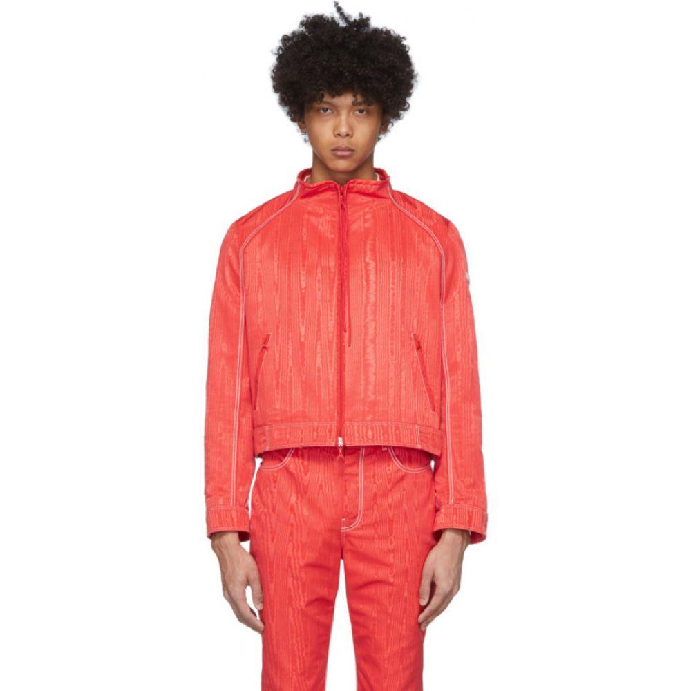 マリーン セル Marine Serre メンズ ブルゾン ミリタリージャケット アウター【red boxy bomber jacket】Red