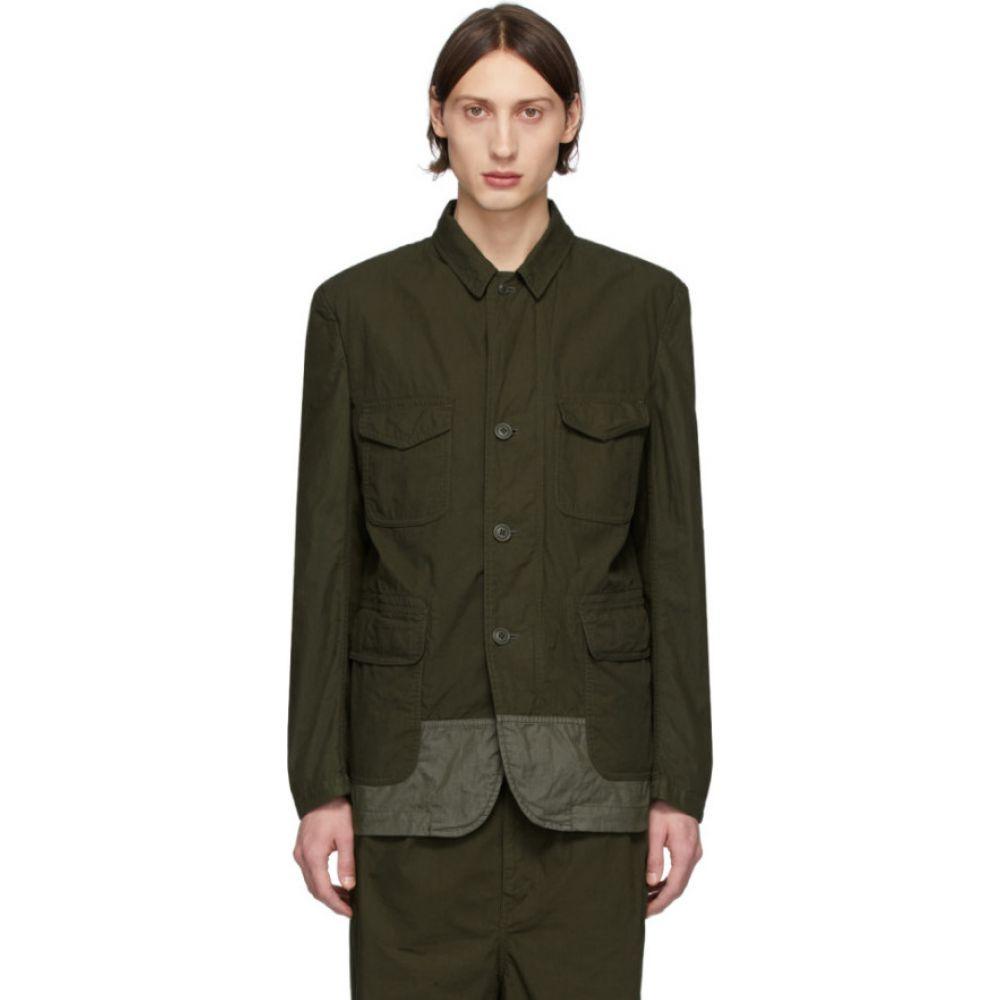 コム デ ギャルソン Comme des Garcons Homme メンズ スーツ・ジャケット アウター【khaki multi-fabric garment-dyed field blazer】Khaki mix